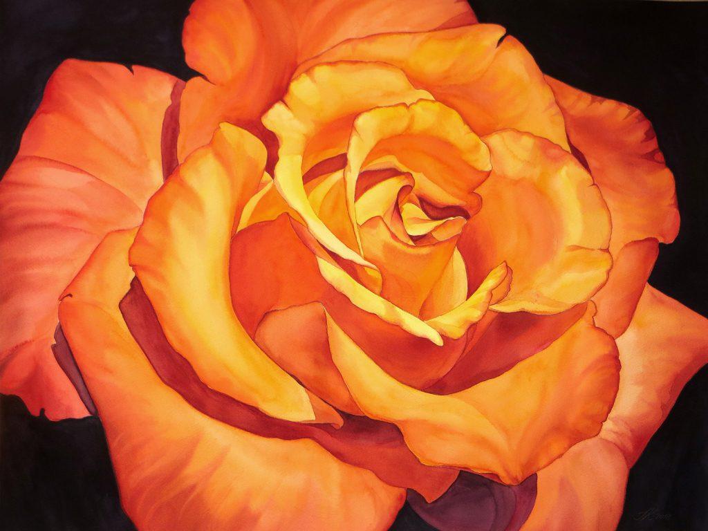 Yellow Rose - 72 x 55 cm